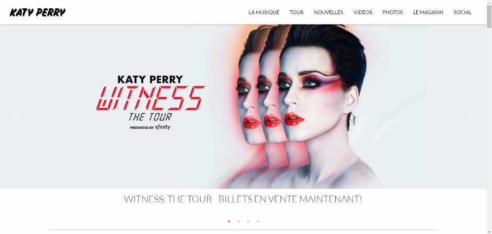 Katty Perry utilise Wordpress