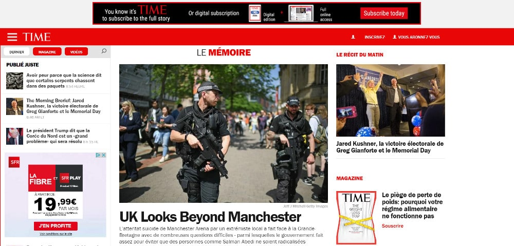 Time Magazine utilise Wordpress
