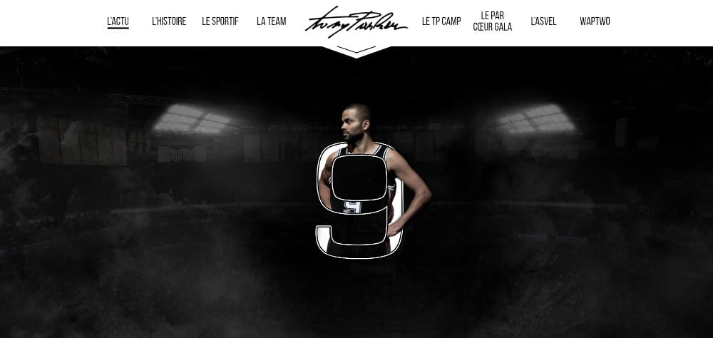 Tony Parker utilise Wordpress