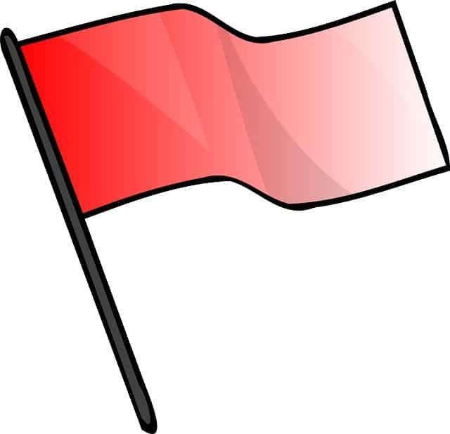Drapeau rouge red flag google