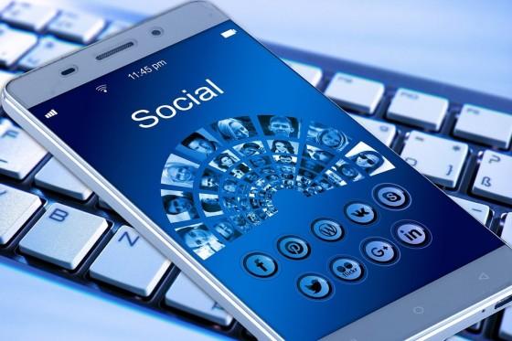 densité de médias sociaux