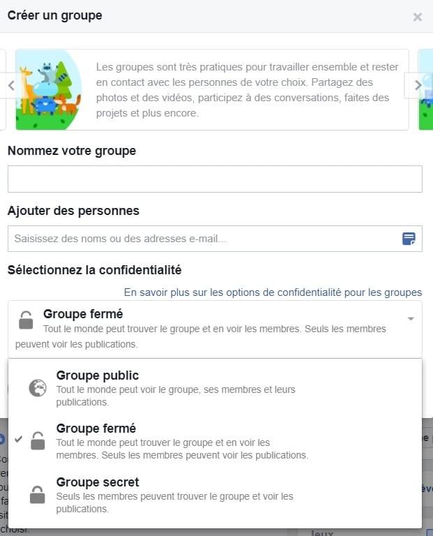 Comment créer un groupe Facebook (1)