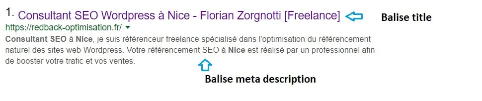 Titre SEO et meta description
