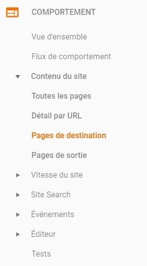 Comportement google analytics wordpress-min